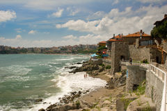 Overview of the town of Sozopol, Bulgaria Royalty Free Stock Images