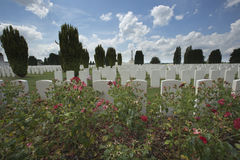Overview of Tyne Cot cemetery Stock Photos
