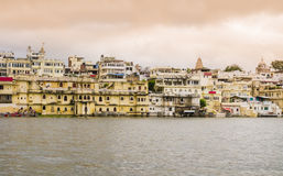Overview of Udaipur at sunset, Rajasthan, India. Overview of Udaipur at sunset, the Venice of the East, Rajasthan, India Stock Photo