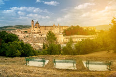 Overview Urbino. Overview of the city of Urbino, Italy Stock Image