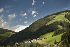 Overview of a valley in South Tyrol Stock Image