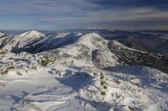 Overview from Velky Krivan. At Mala Fatra mountains, Slovakia Stock Photos