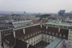 Overview of Vienna skyline in a cloudy day Royalty Free Stock Images