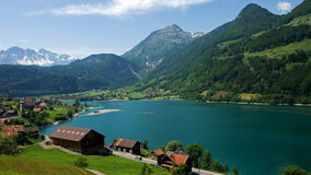 Overview of the Village at Lungern Royalty Free Stock Photography