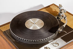 Overview Vintage Grungy Record Playing Turn Table Royalty Free Stock Photo