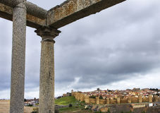 Overview of the walls of Avila Royalty Free Stock Photography