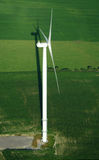 Overview of windturbine and shadow Royalty Free Stock Photography