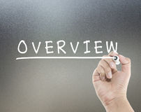 Overview word. With hand writing royalty free stock photo