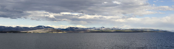 Overview of Yellowstone Lake Stock Photo