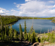 Overview of Yellowstone Lake Stock Photography