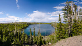 Overview of Yellowstone Lake Stock Image