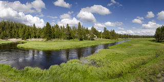 Overview of the Yellowstone River Stock Photos
