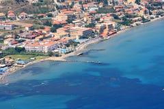 Overview on Zakynthos island Stock Photo