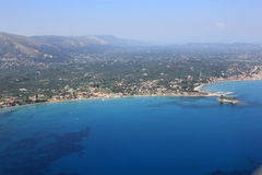 Overview on Zakynthos island Royalty Free Stock Photos
