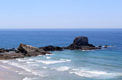 Overview of Zambujeira do Mar village beach Royalty Free Stock Photo
