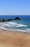 Overview of Zambujeira do Mar village beach Royalty Free Stock Photography
