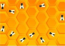 Overvloed van bijen royalty-vrije illustratie