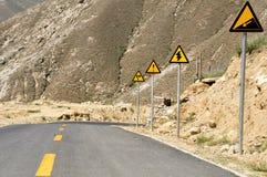 Overvloed van verkeersteken, Lhasa, Tibet Royalty-vrije Stock Fotografie