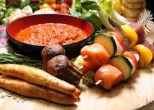 Overvloed van voedsel royalty-vrije stock afbeelding