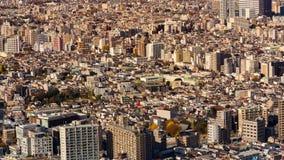 Overvol de stad van Tokyo woon bij Roppongi-toren royalty-vrije stock foto