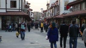 Overvol, mensen, stad, Turkije stock video