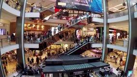 Overvol modern winkelcomplex, Sydney, Australië stock videobeelden
