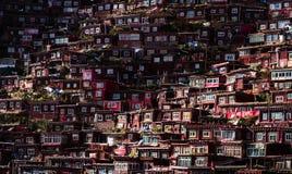 Overvol Rood Huis van Boeddhistische Academie Royalty-vrije Stock Afbeelding