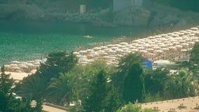 Overvol strand in Montnegro Stock Fotografie