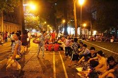 Overvolle atmosfeer, Ho Chi Minh-de jeugdlevensstijl Stock Foto's
