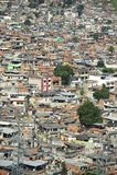 Overvolle Braziliaanse Helling Favela Shanty Town Rio de Janeiro Brazil Royalty-vrije Stock Foto's