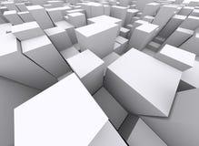 Overvolle 3d blokken stock foto