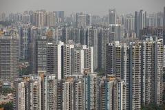 Overvolle huisvesting in China royalty-vrije stock foto