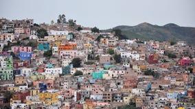 Overvolle huizen Guanajuato Stock Foto