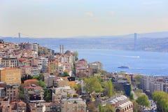 Overvolle stad van Istanboel Royalty-vrije Stock Fotografie