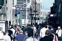Overvolle straat Stock Foto's