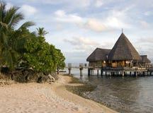 overwater玻利尼西亚人 库存图片