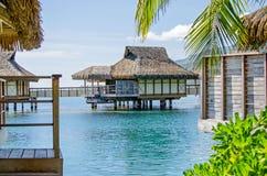 Overwater bungalow Arkivfoto