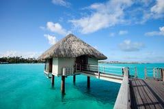 Overwater bungalow Stock Image