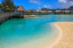 Overwater Bungalow Royalty Free Stock Images