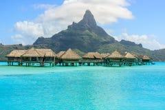 Overwater-Bungalow - Bora Bora Lizenzfreies Stockfoto