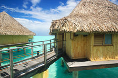 Overwater Bungalow Royalty Free Stock Photos