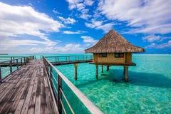 Overwater bungalow w bor borach Fotografia Stock