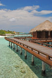 Overwater Bungalow for your next Island Vacation o Royalty Free Stock Photography