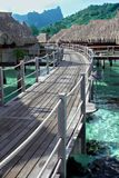 Overwater Bungalowe Lizenzfreies Stockfoto