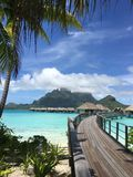 Overwater bungalower Royaltyfria Bilder