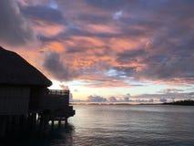Overwater bungalower Royaltyfri Foto
