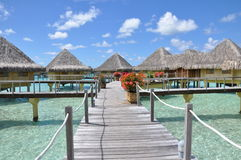Overwater Bungalows Stock Images