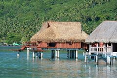 Overwater bungalows Royalty Free Stock Photos
