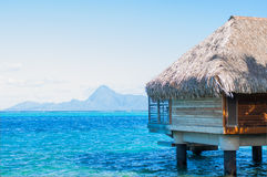 Overwater bungalows royalty free stock image