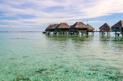 Overwater Bungalows. French Polynesia, Summer 2012 stock images